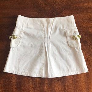 Burberry ivory white girl skirt size 8